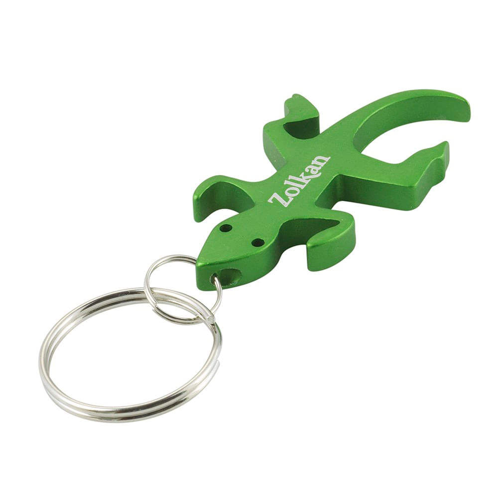 Llavero-Zolkan-Bottle-Opener-Lizard-Unisex-Green
