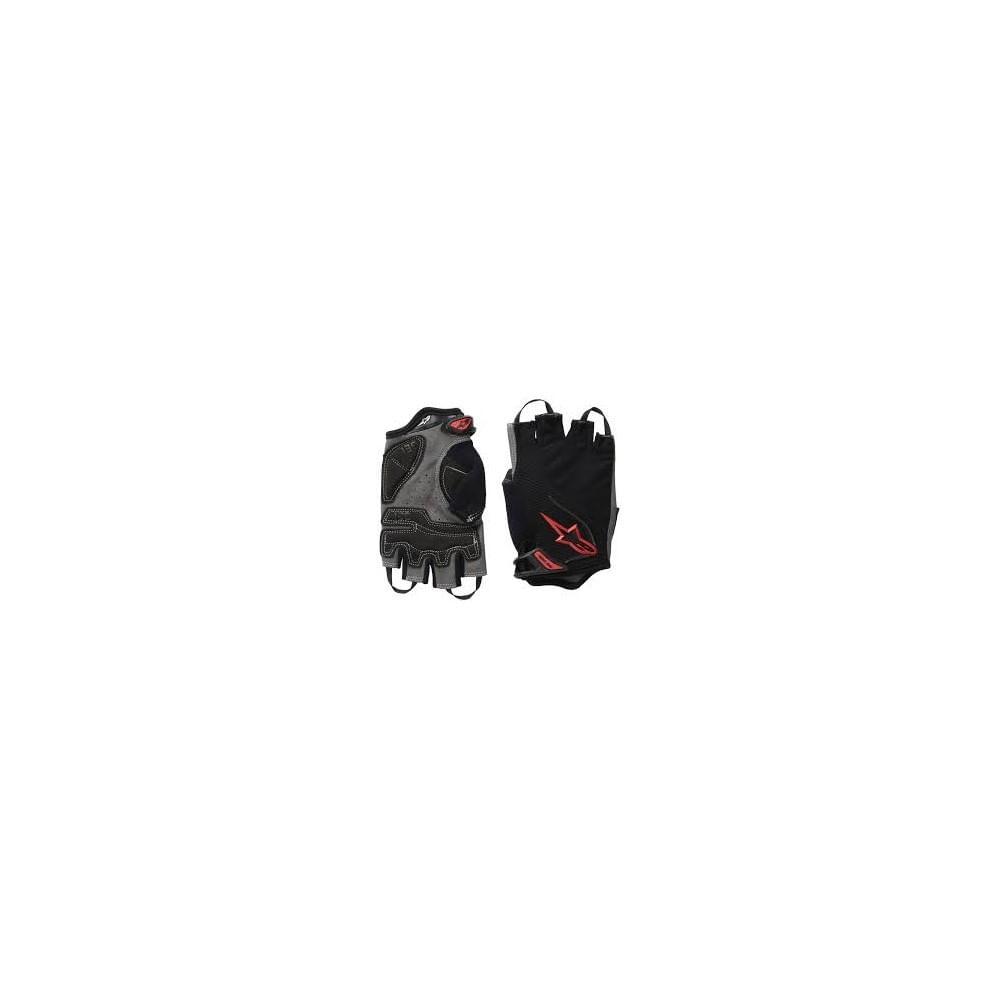 Guantes-Alpinestar-Pro-Light-Short-Finger-Glove-Unisex-Black-Red