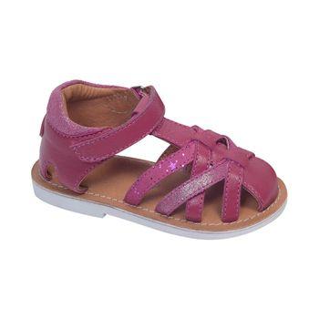 Sandalia-T-Franciscana-Velcro-Fucsia---Zapato-Bebe-Niña