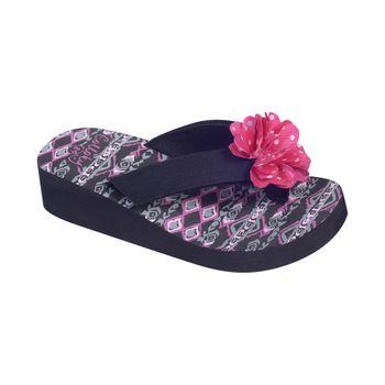 Hawaiana-Tira-Velcro-Doble-Black---Zapato-Bebe-Niña