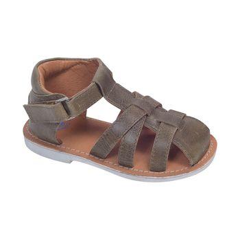 Sandalia-Franciscana-Velcro-Corto-Moss-Green---Calzado-Niño