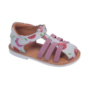 Sandalia-Franciscana-Velcro-Doble-White---Zapato-Bebe-Niña