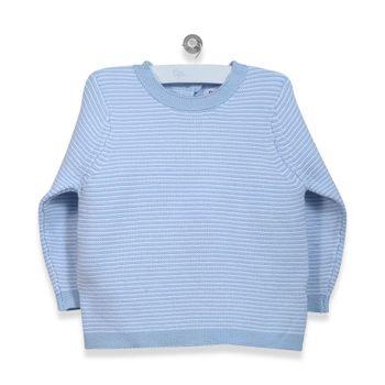 Sweater-Classique-Listado-Celeste