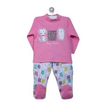 Pijama-Largo-Niña-Fucsia