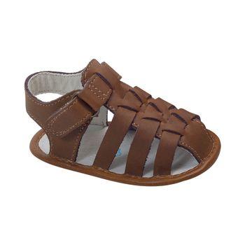 Sandalia-Velcro-Corto-Talon-Abierto-Punta-Cerrada-Camel---Calzado-Niño