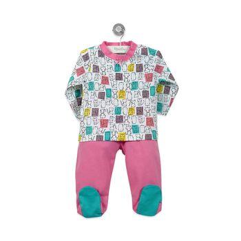 Pijama-Largo-Niña-Fucsia-