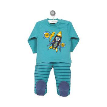Pijama-Largo-Niño-Verde-