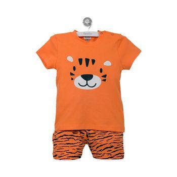 Pijama-Corto-Niño-Naranjo-