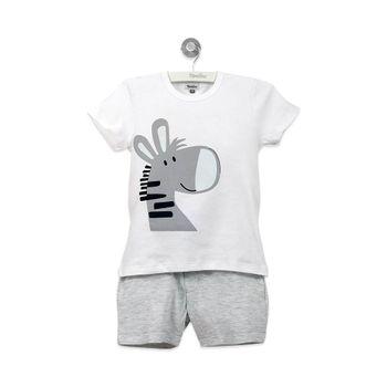 Pijama-Corto-Niño-Gris-