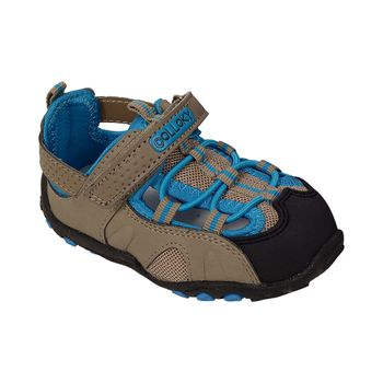 Sandalia-Outdoor-Con-Pieza-T-Velcro-Doble-Y-Cordon-Elastico-Taupe---Calzado-Niño