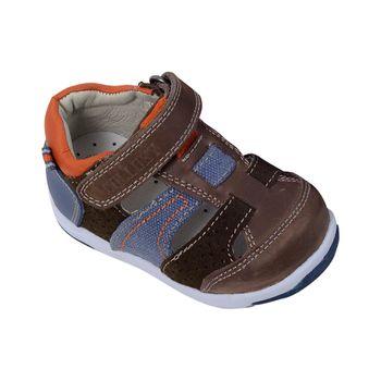 Sandalia-Cerrada-Moda-Velcro-Taupe---Calzado-Niño