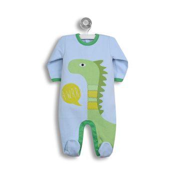 Pijama-Estampado-Dinosaurios-Celeste-Niño