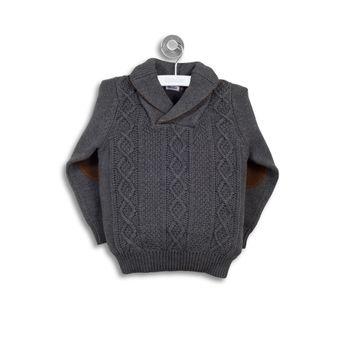 Sweater-Trenzado-Con-Cuello-Gris-Niño
