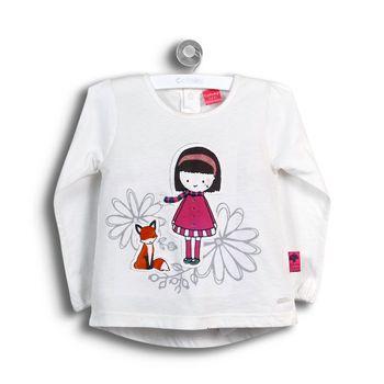 Polera-Niña-Zorro-Yuhu-Infant-Girl-Off-White