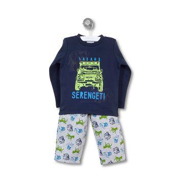 Pijama-Polycotton-Kid-Boy-Denim