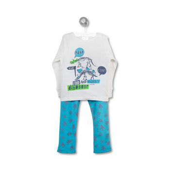 Pijamapolar-Dinosaurios-Infant-Boy-Off-White