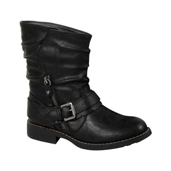 Bota-Snake-Zipper-Girl-Black