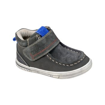 Botin-Clasico-Nautico-Velcro-Boy-Middle-Gray