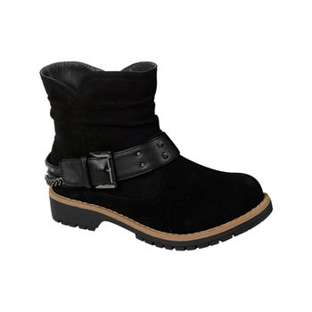 Bootie-Chain-Buckle-Girl-Black