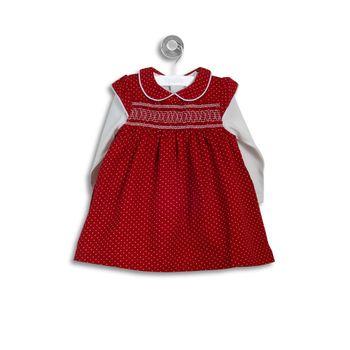 Conjunto-Vestido-Cotele-Rojo-Niña