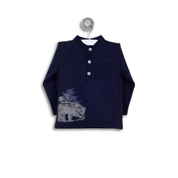Polera-Ml-Estampado-Oso-Polar-Navy-Niño