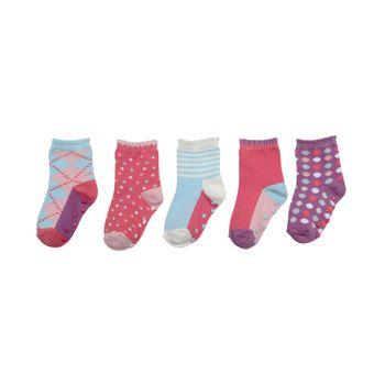 Calcetines-5-Pack-Colores-Ludicos-Fucsia-Niña