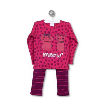 Pijama-Ludico-Gatitos-Kid-Girl-Guinda