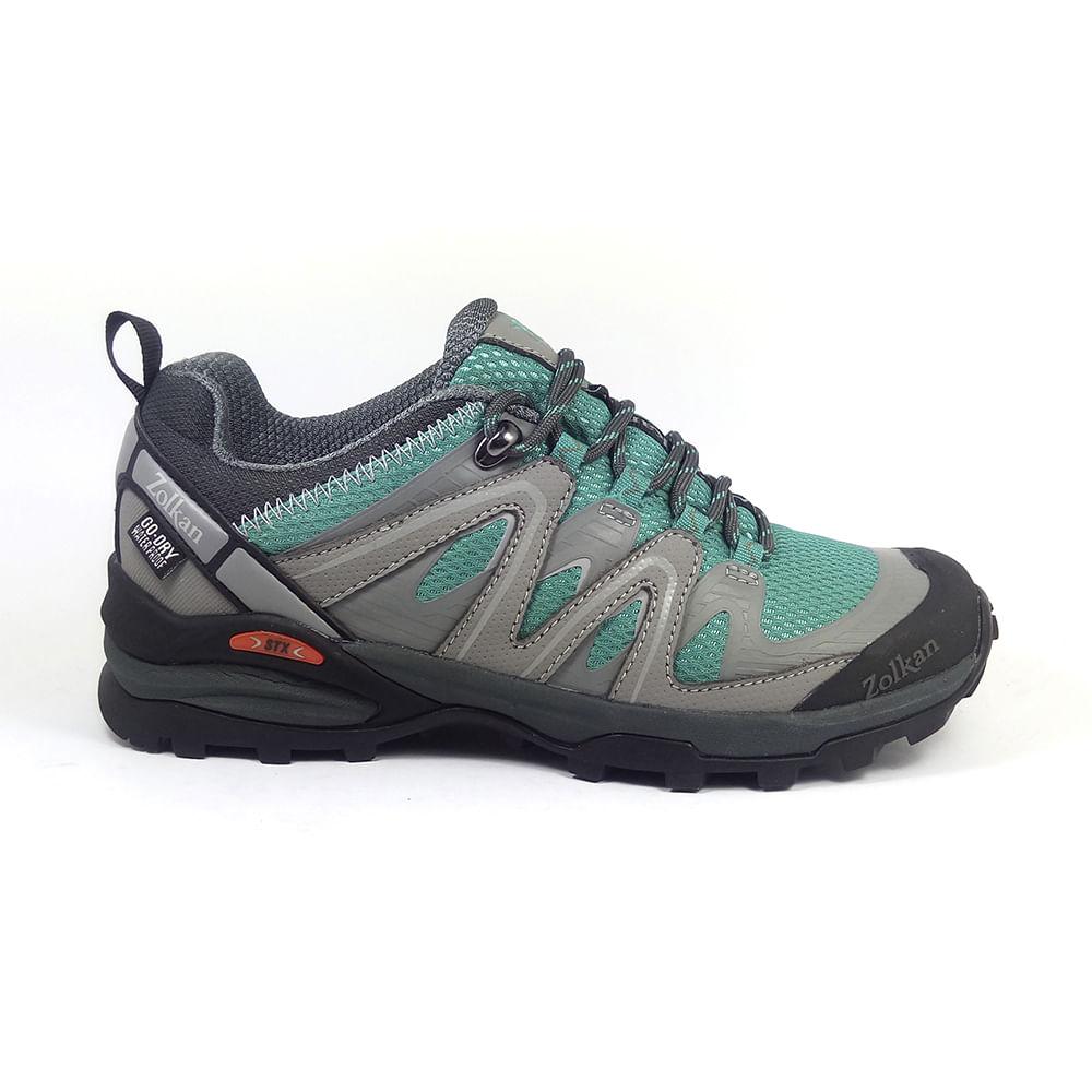6927411e Zapatos ZOLKAN W Nootka WP Low Mint/Grey Mujer - Zolkan
